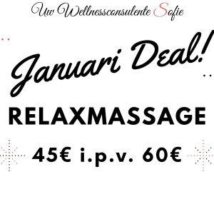 januari deal massage relax wellness sofie brakel