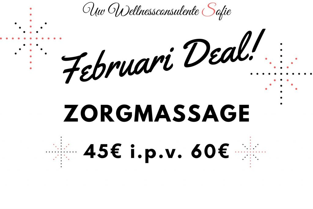 Promo deal korting wellness massage sofie brakel