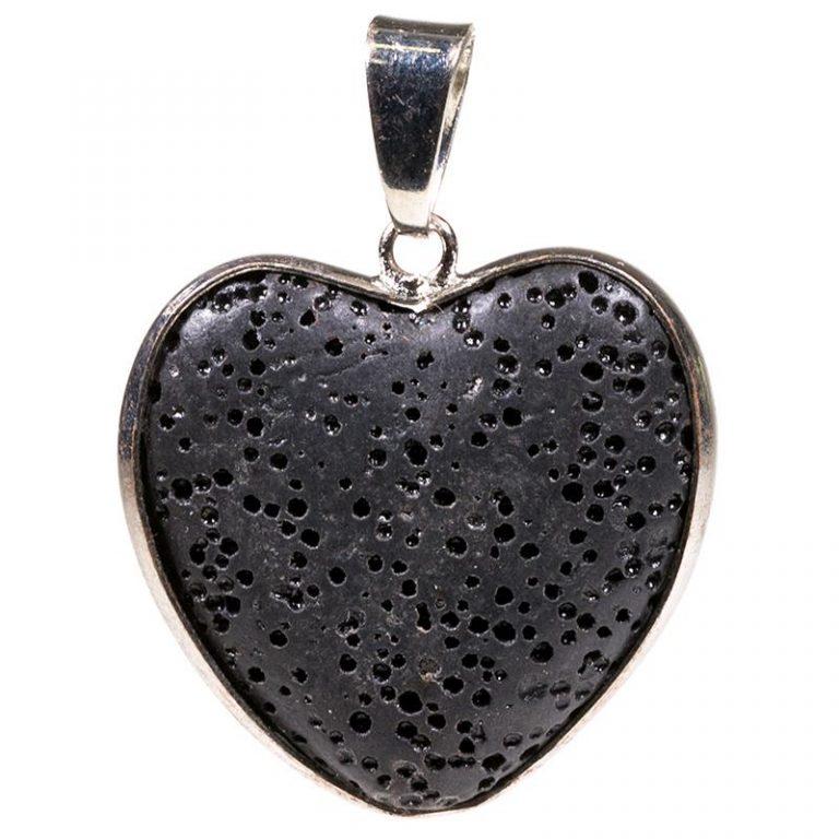 Hanger lavasteen hartvorm sieraad massage gezondheid therapie sofie zwalm