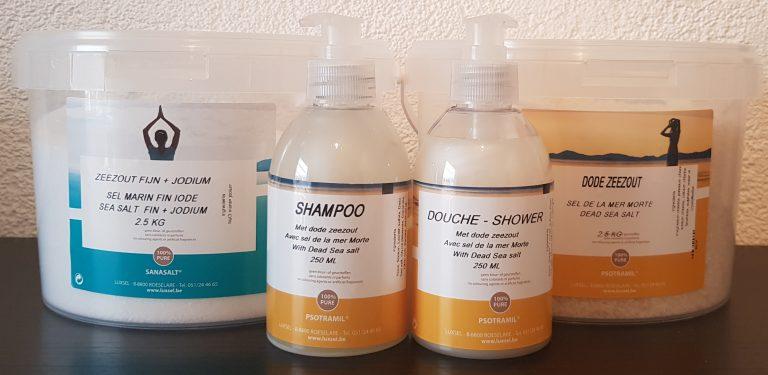 Dode Zeezout shampoo douche badzout scrub massage therapie gezondheid wellness sofie brakel