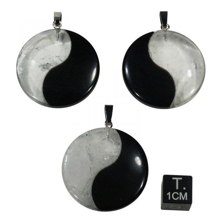 Hanger Yin Yang obsidiaan bergkristal sieraad massage gezondheid therapie sofie zwalm