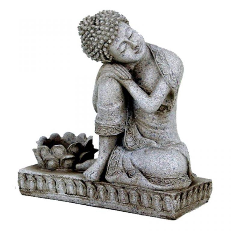 Boeddha kaarshouder steengrijs wellness sofie brakel